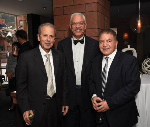 Hon. Consul General of Cyprus Andreas Kyprianides, Eric Hanks, and Sabri Atman, Founder and Director of the Assyrian Genocide Research Center