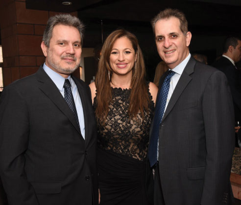 Greek Ambassador to the United States Haris Lalacos, Aristeion Award Recipient Kelly Vlahakis-Hanks, Greek Consul General of Los Angeles Gregory Karahalios