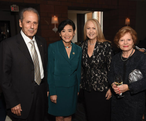 Hon. Consul General of Cyprus Andreas Kyprianides, Congresswoman Judy Chu, Mika Kyprianides, and AHC Vice President Eleftheria Polychronis