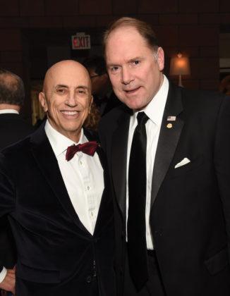 AHC Chairman Menas Kafatos with AHEPA Supreme President Carl Hollister