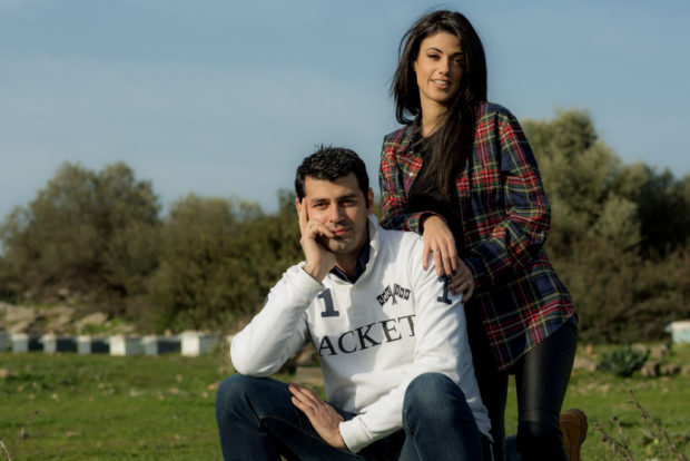 Stayia Farm founders Yiannis Karypidis and his wife Stavroula Theodorou