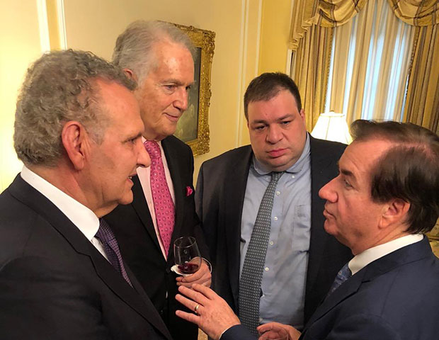 House Foreign Affairs Committee Chairman Ed Royce talks with (L to R) Cyprus Presidential Commissioner Photiou, CEH President Manatos, Cyprus Embassy Charge d'affairs Nicolaides, PHOTOS: BILL PETROS