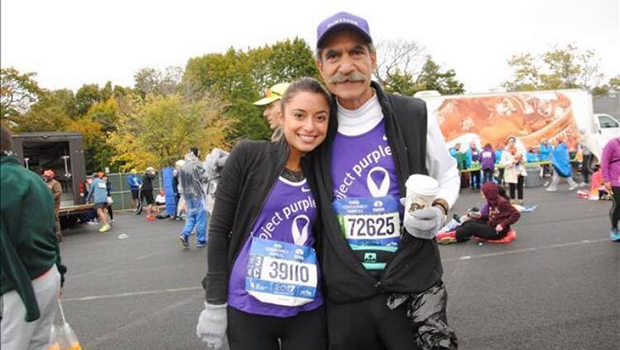 Jimmy with his daughter Marianna right before she ran the New York City marathon to raise money for Pancreatic Cancer and honor her father's battle