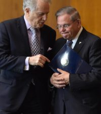 Senator Bob Menendez and Andy Manatos