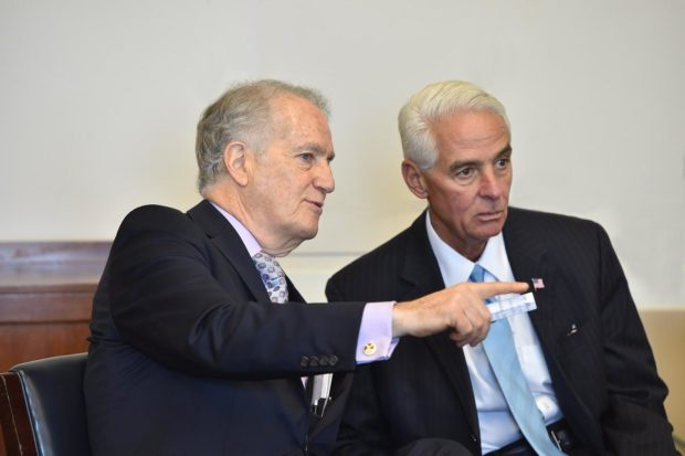 Congressman Charlie Crist with Andy Manatos