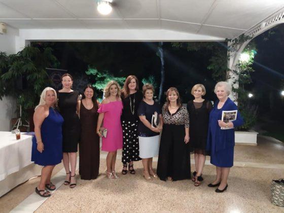 From Left, Stacey Harris Papaioannou, Ioanna Kalivaki, Pelagia Karra, Georgia Kallis, Katerina Sirouni, Angela Karavas, Bessie Sioutas-Vassilopoulou, Vicky Klimi and Bernadine Tzouros