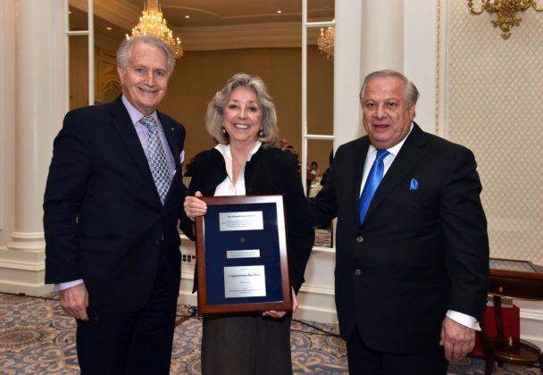 Congresswoman Dina Titus with Andy Manatos and Phil Christopher