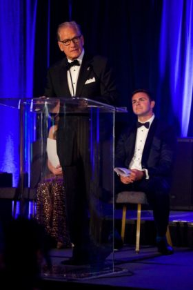 PHSF Chairman & Trustee Robert A. Buhler, Emcee Pete Zervakis; All photos courtesy of Sofia Spentzas - Spiral Art Design