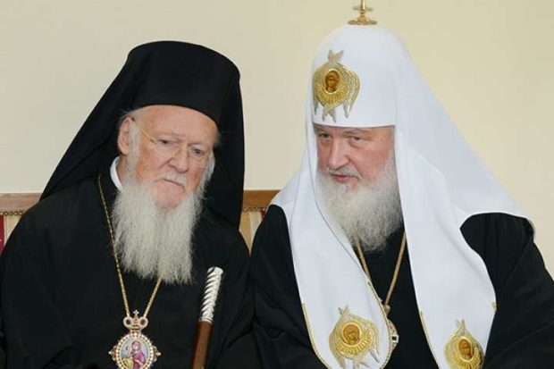 Ecumenical Patriarch Bartholomew with Patriarch Kirill of Moscow
