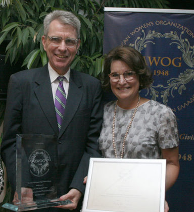 US Ambassador in Athens Geoffrey R. Pyatt with wife Mary, the event's hosts