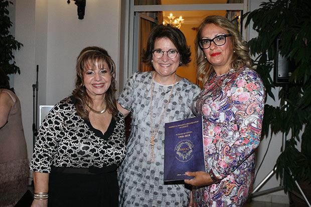 Bessie Sioutas-Vassilopoulou, Mary Pyatt, Ambassador Geoffrey Pyatt and NEO's Margarita Vartholomeou