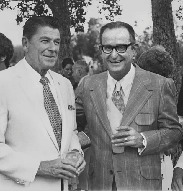 With President Ronald Reagan