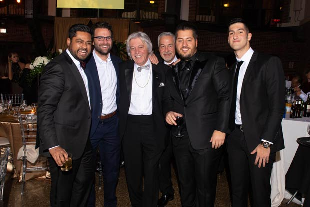 Rishi Shah, Peter Rahal, Jimmy Bousis, John Manos, George Bousis, Dimitri Bousis Jr.; PHOTO: CHRIS BOUBRIS PHOTOGRAPHY