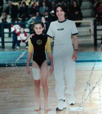Anna Apostolidou during her coaching time