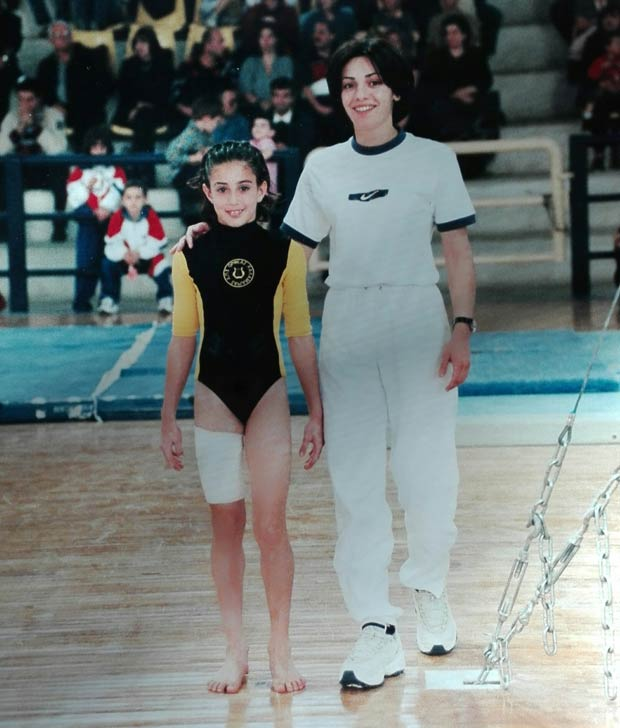 Anna Apostolidou during her coaching time
