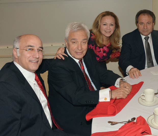 Dimitri Dellis, Mike Angeliades, Mrs. & Mr. Gus Bennetos, PHOTO: ETA PRESS