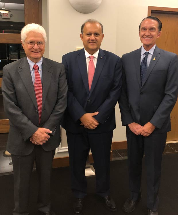 From left: Dr. Evangelos Hadjimichael, Chapter President, Chapter #98, Nick Larigakis, President, American Hellenic Institute and Gregory J. Stamos, Past Supreme Counselor, Order of AHEPA and President of the Hellenic Bar Association of Connecticut