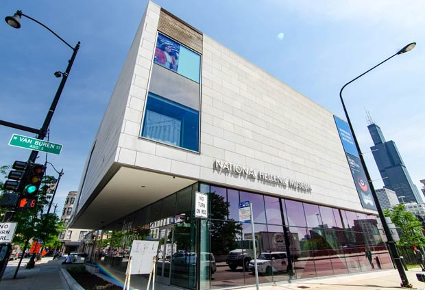 The National Hellenic Museum in the heart of Chicago's Greek Town, Photo by Eric Allix Rogers