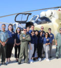 The students and AHI's President Nick Larigakis at a Greek Air Force base