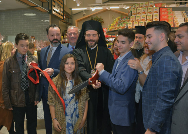 Bishop Apostolos and Stelio Katopodis cutting the ribbon; Photo: ETA PRESS / Christos Cavvadas