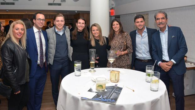 From left, Christina Tenedios, George Sousou, Derek Katchis, Alexandra Lambiris, Alexandra Katchis, Elpida Sousou, Thomas Sousou, James Pantelidis; PHOTO: ETA PRESS