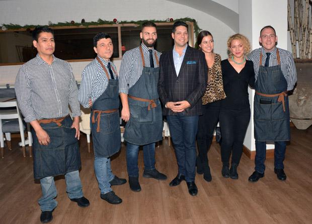 Kyma Flatiron Manager Renos Georgiou and staff members at the event; PHOTO: ETA PRESS