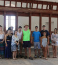 The students in a desecrated church in the Turkish occupied area of Cyprus