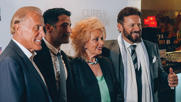 Executive Producer and Co-Writer Marianne Metropoulos with husband C. Dean Metropoulos and sons Evan & Daren at the film's premiere in London