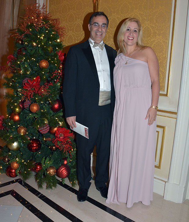 Dr. Stella Lymberis with husband, Dr. Vassilios Latoussakis at the 2018 Hellenic Medical Society Annual Gala. PHOTO:ETA PRESS