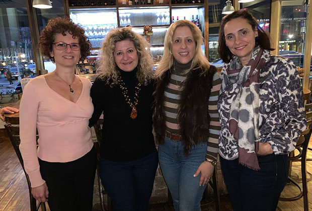 Dr. Stella Lymberis (2nd from right) with fellow Association of Greek American Professional Women members Pannie Trifillis, PhD, Olga Alexakos, PhD, and Natassa Romanou, PhD