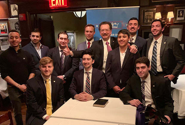 Delphi President Louis Katsos with members of the reactivated Sons of Pericles New Renaissance Chapter #5