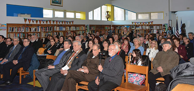 The Symposium which took place at the Library of the St. Demetrios of Astoria High School