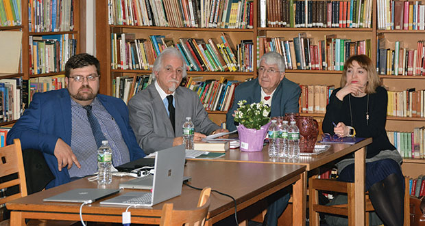 From left: Alexandros Colombos, Secretary General and Director of Technology, Dr. D. Triantafillou, Dr. Kleomenis Paraskevas and Meropi Kyriakou