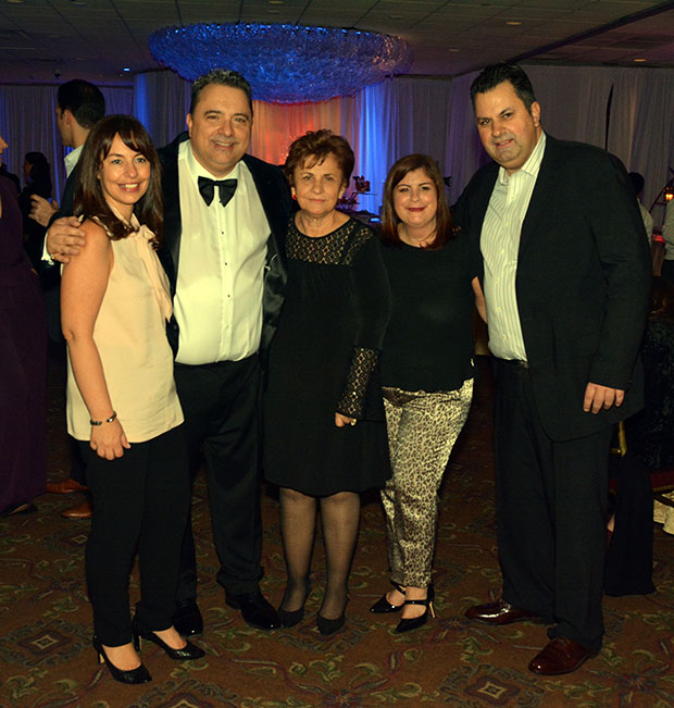 Angelo with siblings Kali Gabriel, Dina Skokos and Chris Pappas and mother Vasiliki Pappas