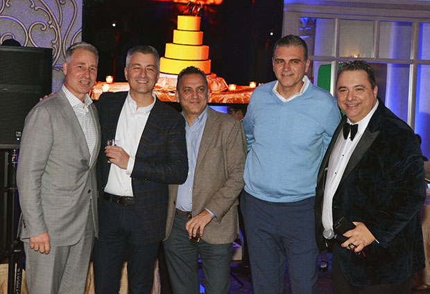 Angelo with close friends John Petras, George Patilis, Peter Nikakis and Niko Katopodis