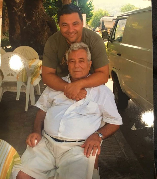 Angelo with his late father Evrimahos Pappas