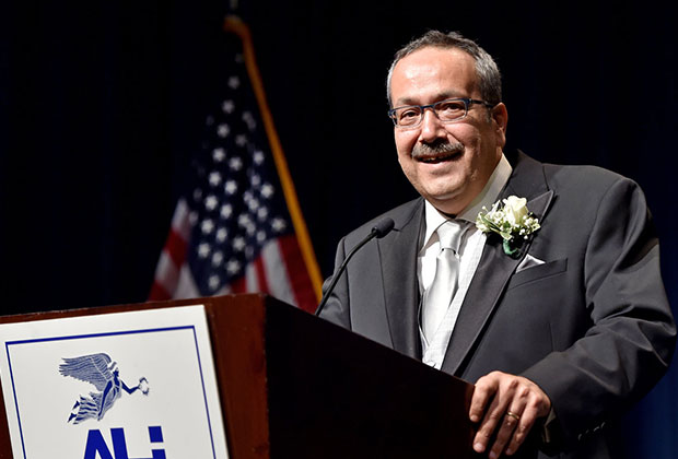 Honoree Spiro Spireas during his acceptance speech