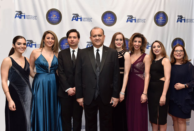 AHI President Nick Larigakis with legislative assistant Elias Gerasoulis, Yola Pakhchanian, communications director (1st from right), Georgea Polizos (3rd from right) and volunteers
