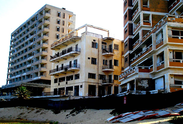 "The ""ghost town"" of Famagusta. The Turkish occupying authorities still don't allow its inhabitants to return to their homes"