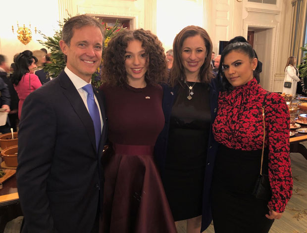 From left, Mike Manatos, Alexsia Vlahakis-Hanks, Kelly Vlahakis-Hanks, Vassy Karagiorgos