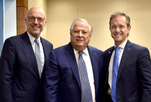 (L-R) House Middle East Subc. Chairman Ted Deutch, Philip Christopher, Mike Manatos