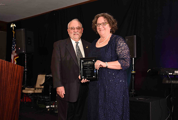 AHC President & Chairman Dr. James F. Dimitriou and Theodore Saloutos Award Honoree, Dr. Sharon E. J. Gerstel