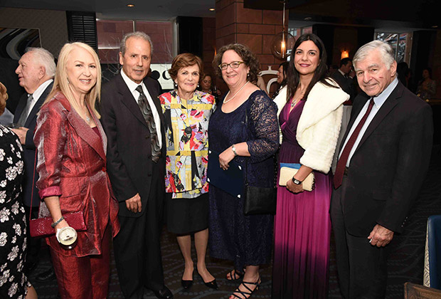From left, Mrs. Mike Kyprianides, Hon. Consul General of Cyprus, Andreas Kyprianides, Mrs. Kitty Dukakis, Dr. Sharon E. J. Gerstel, Consul General of Greece Evgenia Beniatoglou, Governor Michael Dukakis