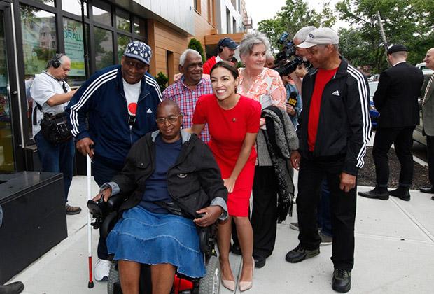 Congresswoman Alexandria Ocasio-Cortez and HANAC Corona Senior Residents