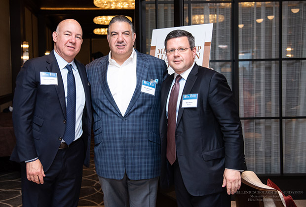 Stephen Livaditis, John Koudounis, and Mentorship Luncheon Sponsor Nick Alexos