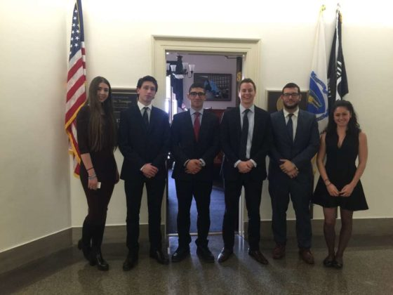 Students ad the office of the Chairman of the Hellenic Caucus, Congressman Gus Bilirakis