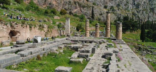 Pictured: The Temple of Apollo, Delphi; courtesy of Live From Lincoln Center
