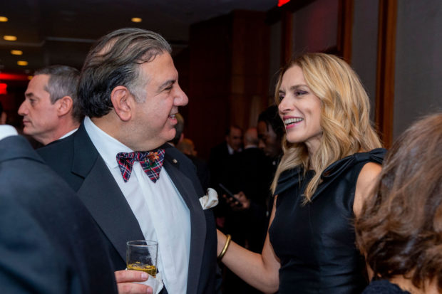 Calamos CEO John Koudounis with Chryssa Avrami