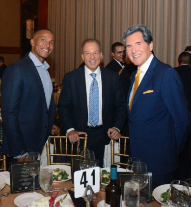 FOX 5 NY Personalities Mike Woods, Nick Gregory, Ernie Anastos, PHOTO: ETA PRESS