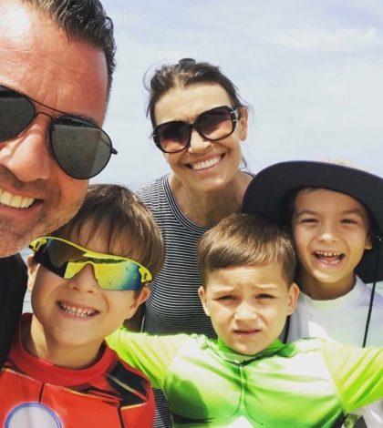 Vivian Vonortas Jepp with husband Erik and their three sons, Michael, Alex and Dino